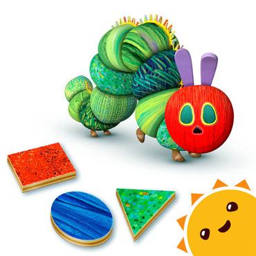 La pequeña oruga glotona y sus amigos. Formas y colores